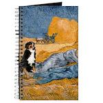 Dog in Van Gogh Painting Journal