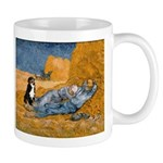 Dog in Van Gogh Painting Mugs