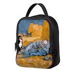Dog in Van Gogh Painting Neoprene Lunch Bag