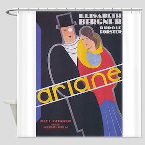 Ariane Vintage French Movie Poster Shower Curtain