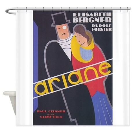 Ariane Vintage French Movie Poster Shower Curtain By Vintagevivian