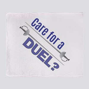 Care For A Duel Throw Blanket