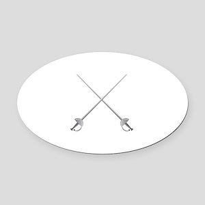 Rapier Swords Oval Car Magnet