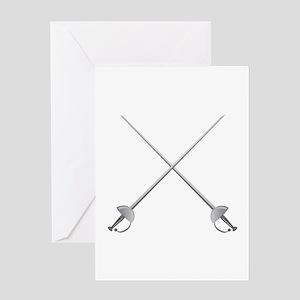Rapier Swords Greeting Cards