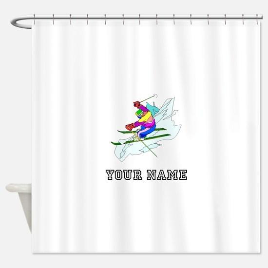 Skier (Custom) Shower Curtain