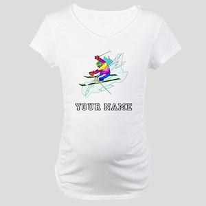 Skier (Custom) Maternity T-Shirt