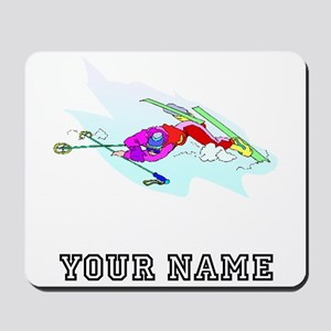 Skier Wipeout (Custom) Mousepad