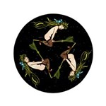 Witches Triangle Button
