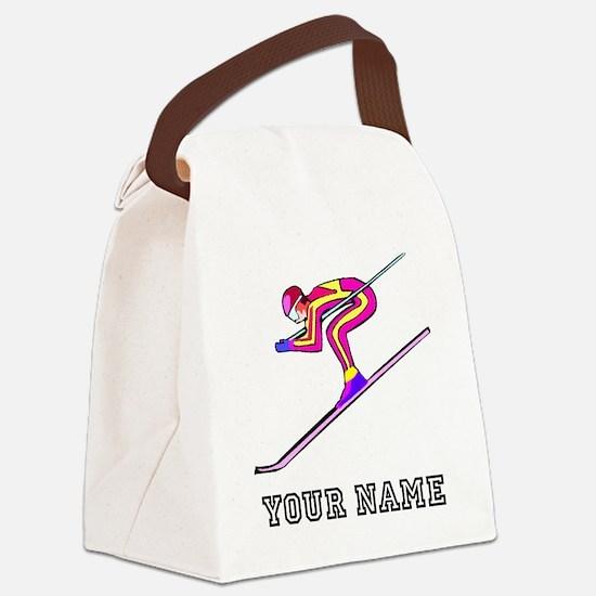 Ski Racer (Custom) Canvas Lunch Bag