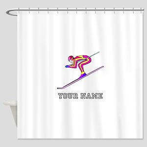 Ski Racer (Custom) Shower Curtain