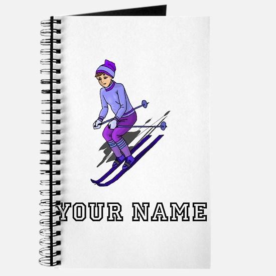 Girl Skiing (Custom) Journal