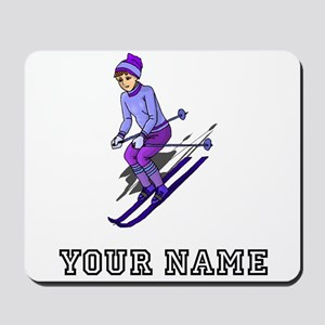 Girl Skiing (Custom) Mousepad