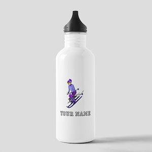Girl Skiing (Custom) Water Bottle