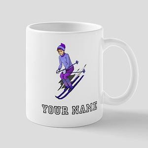 Girl Skiing (Custom) Mugs