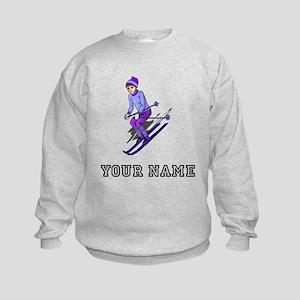 Girl Skiing (Custom) Sweatshirt