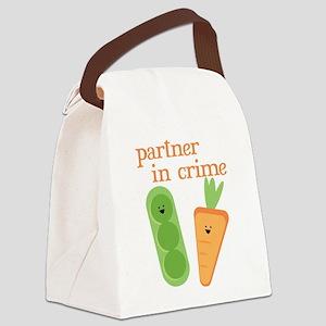 Partner In Crime Canvas Lunch Bag