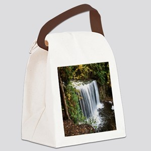 Rain Forest Waterfall Canvas Lunch Bag