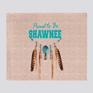 Proud to be Shawnee Throw Blanket
