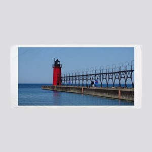South Haven Lighthouse Beach Towel