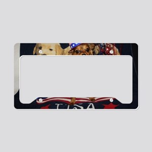 Patriotic Pooch License Plate Holder