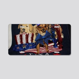 Patriotic Pooch Aluminum License Plate