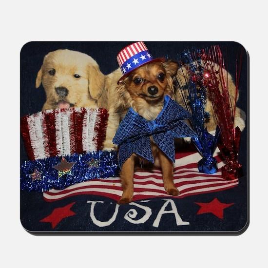 Patriotic Pooch Mousepad