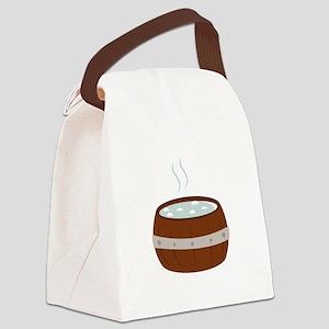 Hot Tub Canvas Lunch Bag