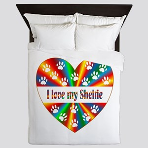 Sheltie Love Queen Duvet