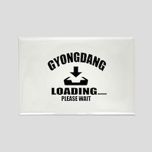 Gyongdang Loading Please Wait Rectangle Magnet