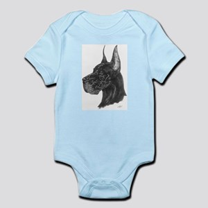 Black Great Dane in dots Infant Creeper