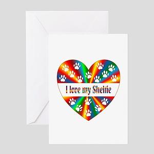 Sheltie Love Greeting Card