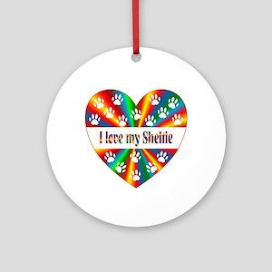 Sheltie Love Round Ornament
