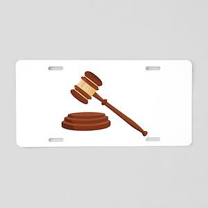 Judge Gavel Aluminum License Plate