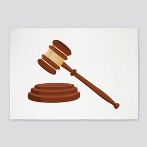 Judge Gavel 5'x7'Area Rug