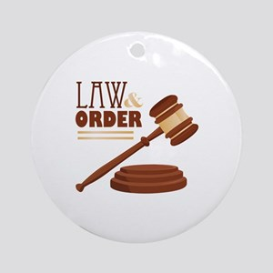 Law & Order Ornament (Round)