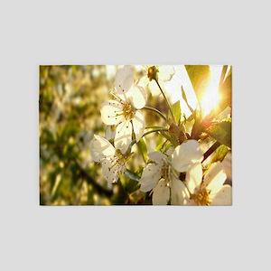 Sunny Flowers 5'x7'Area Rug