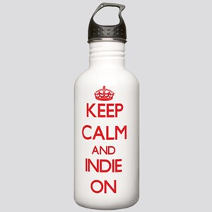 Keep Calm and Indie ON Stainless Water Bottle 1.0L