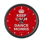 Morris Dancing Large Wall Clock