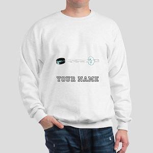 Hockey Puck Flying (Custom) Sweatshirt