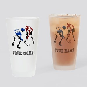 Faceoff (Custom) Drinking Glass