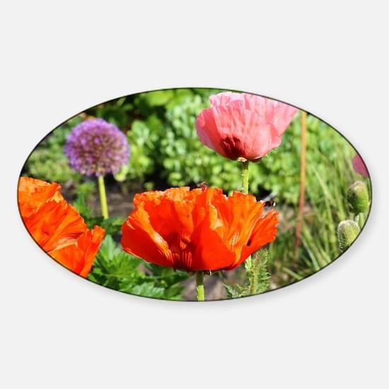 Flowers Sticker (Oval)