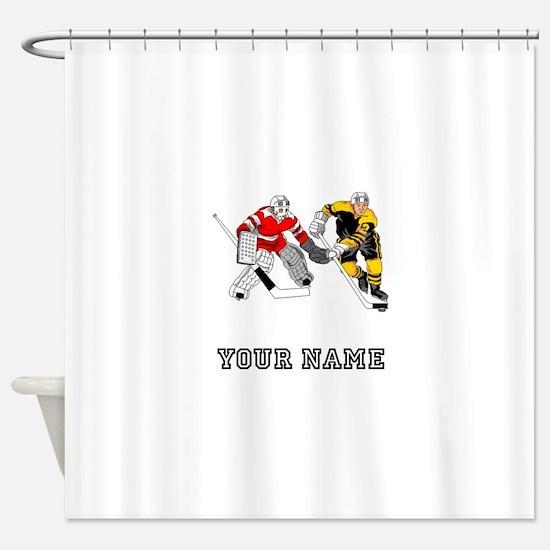 Ice Hockey (Custom) Shower Curtain