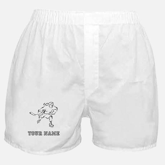 Girl Hockey Player (Custom) Boxer Shorts