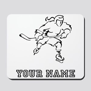 Girl Hockey Player (Custom) Mousepad