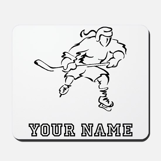 Girl Hockey Player (Custom) Mousepad