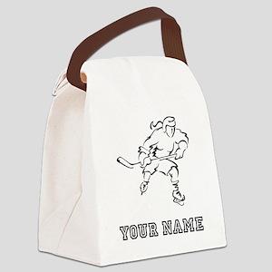 Girl Hockey Player (Custom) Canvas Lunch Bag