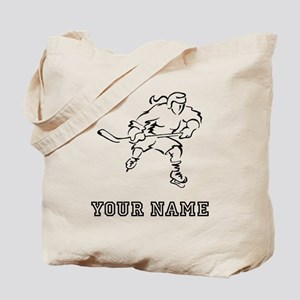 Girl Hockey Player (Custom) Tote Bag