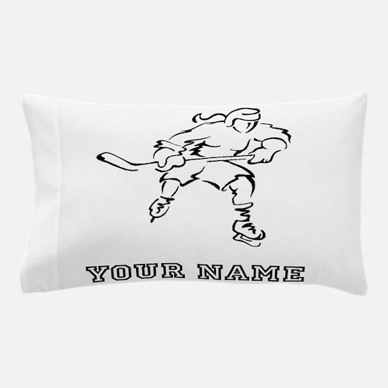 Girl Hockey Player (Custom) Pillow Case