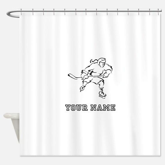 Girl Hockey Player (Custom) Shower Curtain