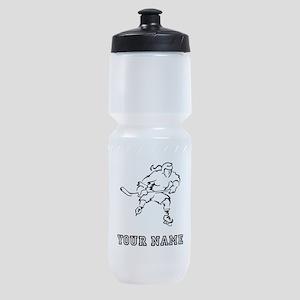 Girl Hockey Player (Custom) Sports Bottle